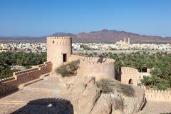 堡垒nakhal阿曼 库存照片