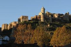 堡垒narikala第比利斯 免版税库存照片