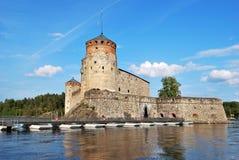 堡垒olavinlinna 免版税库存照片