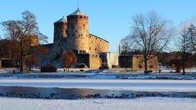 堡垒Olavinlinna 库存照片