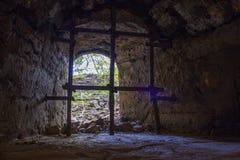 堡垒Oreshek Shlisselburg的囚犯的房间 免版税图库摄影