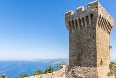 堡垒populonia托斯卡纳 免版税库存图片