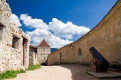 堡垒rasnov罗马尼亚 图库摄影