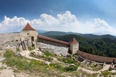 堡垒rasnov transylvania 库存图片