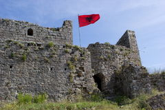 堡垒Rozafa在斯库台,阿尔巴尼亚 库存照片