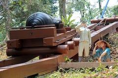 堡垒Siloso军事博物馆 免版税库存图片