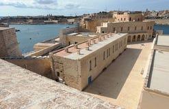 堡垒St安吉洛在马耳他 免版税库存图片