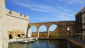 堡垒St安吉洛 三个城市堡垒 马耳他 图库摄影