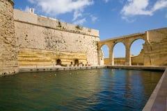 堡垒St.安吉洛,马耳他 库存图片