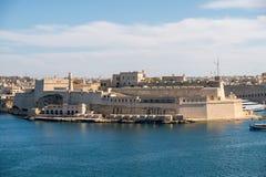 堡垒St La Vittoriosa安吉洛的全景在马耳他 库存图片