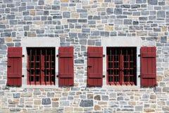堡垒Ticonderoga防护Windows 库存照片