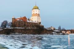 维堡城堡在一个冬天早晨 图库摄影