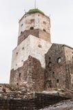 维堡城堡在一个冬天 免版税库存图片