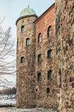 维堡城堡法院在一个冬天早晨 库存照片