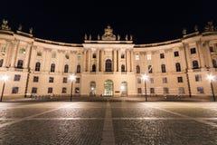 洪堡大学大厦在晚上,柏林 免版税库存照片