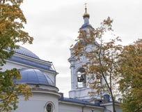 维堡,俄罗斯2016年9月25日:Spaso Preobrazhensky大教堂在维堡 秋天日 免版税图库摄影