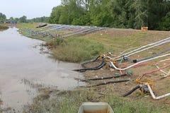 堤坝洪水 库存图片
