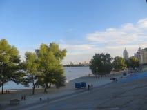 堤防在基辅 图库摄影