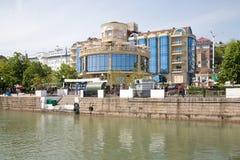堤防在市顿河畔罗斯托夫 免版税库存照片