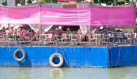 堤防在市顿河畔罗斯托夫 图库摄影