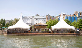 堤防在市顿河畔罗斯托夫 免版税库存图片
