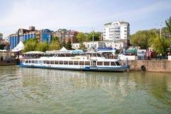 堤防在市顿河畔罗斯托夫 库存图片