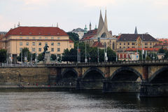 堤防在布拉格 图库摄影