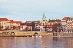 堤防在德累斯顿 免版税库存照片