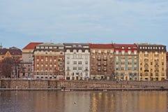 堤防在德累斯顿 免版税图库摄影