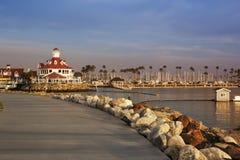 堤防在长滩,洛杉矶,加利福尼亚 图库摄影