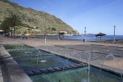 堤防在Machico,马德拉岛 免版税库存照片