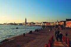 堤防威尼斯 库存照片