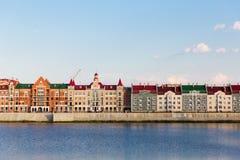 堤防布鲁日在约什卡尔奥拉,俄罗斯 图库摄影