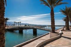 堤防的片段在红海的 免版税库存图片