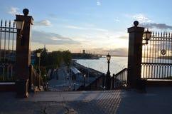 堤防的看法Izhevsk 免版税图库摄影