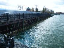 堤防的看法Izhevsk 免版税库存照片