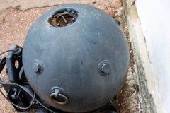 堤防的老海矿在塞瓦斯托波尔 免版税库存图片