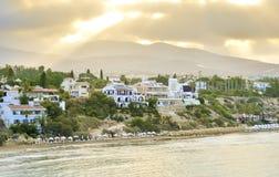 堤防看法在帕福斯港口,塞浦路斯的 库存图片