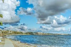 堤防看法在帕福斯港口-塞浦路斯的 免版税库存照片