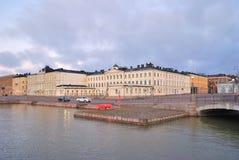 堤防赫尔辛基pohjoisesplanadi 免版税图库摄影