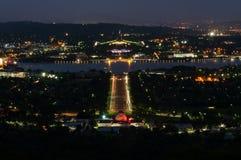 堪培拉在夜之前 免版税库存照片