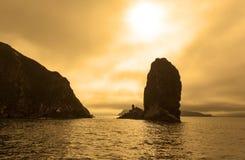 堪察加五颜六色的海景 免版税库存图片