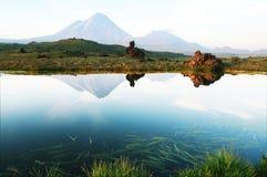 堪察加火山 免版税库存图片