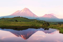 堪察加火山 免版税库存照片