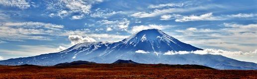 堪察加火山  库存照片