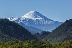 堪察加的本质:在阿瓦恰火山火山的夏天视图 免版税库存图片