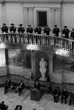 堪萨斯州长布朗贝克讲话在州议会议场 免版税库存图片