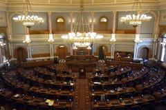 堪萨斯状态国会大厦众议院房间 库存照片