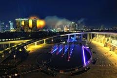 堰坝海滨广场新加坡 免版税库存照片