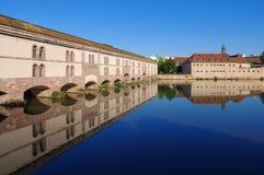 堰坝Vauban在史特拉斯堡,阿尔萨斯 免版税图库摄影